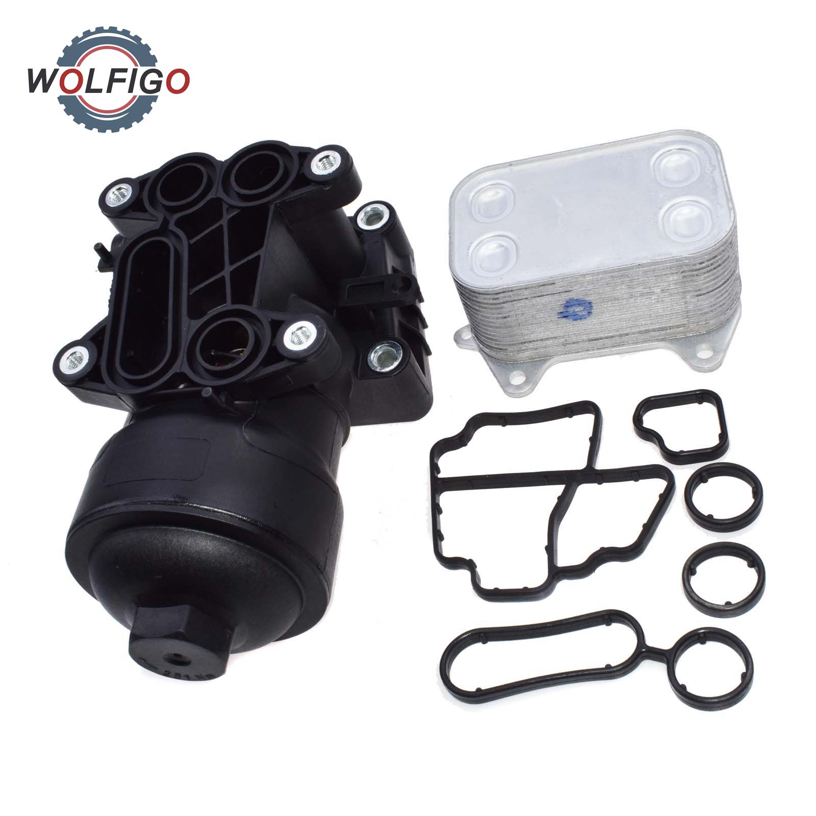WOLFIGO nuevo 03L 115 389 B/C/G/H de filtro de aceite de la Asamblea para AUDI A3 A4 VW asiento SKODA 1,6 2,0 TDI VW 03L 115 B 389 VW 03L 115, 389 C