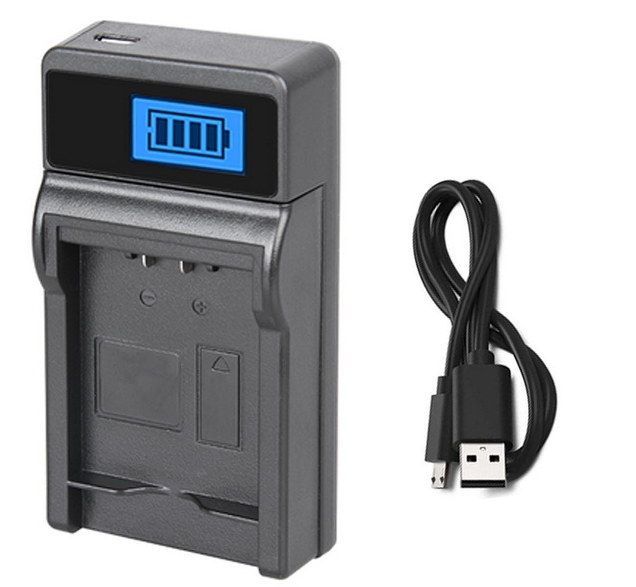 Зарядное устройство для цифровой камеры Panasonic Lumix DMC-FZ40, FZ45, FZ47, FZ48, FZ60, FZ62, FZ70, FZ72, DC-FZ80, FZ81, FZ82, FZ83