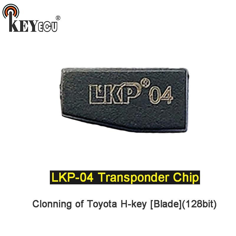Keyecu 1x/ 2x LKP-04 lkp04 chip de cerâmica transponder remoto chave do carro chip cópia h chip para toyota h-chave 128bit