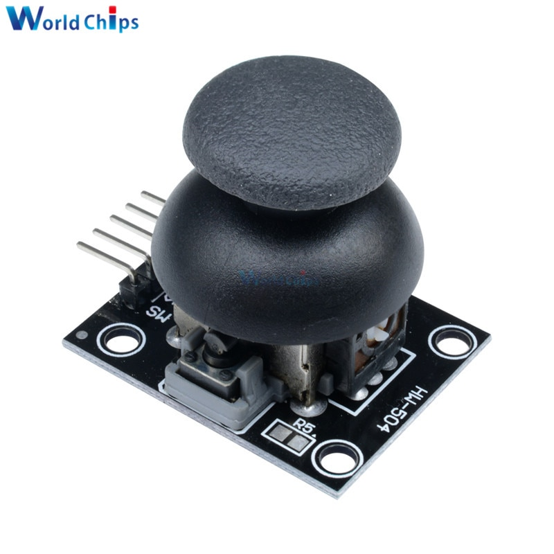 2 pces 5pin joystick breakout módulo shield joystick controlador de jogo al 2.54mm pino interface em dois sentidos rocker 5 v módulo