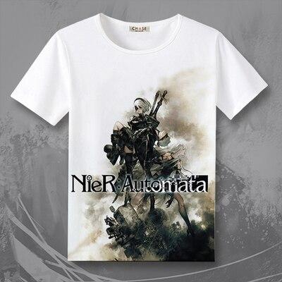 Футболка NieR Automata 2B, новая игровая футболка NieR: Automata, футболка для мужчин и женщин, TX028