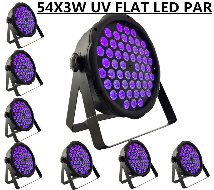 8 piezas/54X3 W LED UV PAR led Luz de lavado etapa profesional DJ equipmentlight