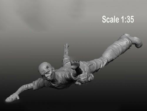 1/35 Zombie-Crawling figura de resina en miniatura kits gk miniatura sin montar sin pintar