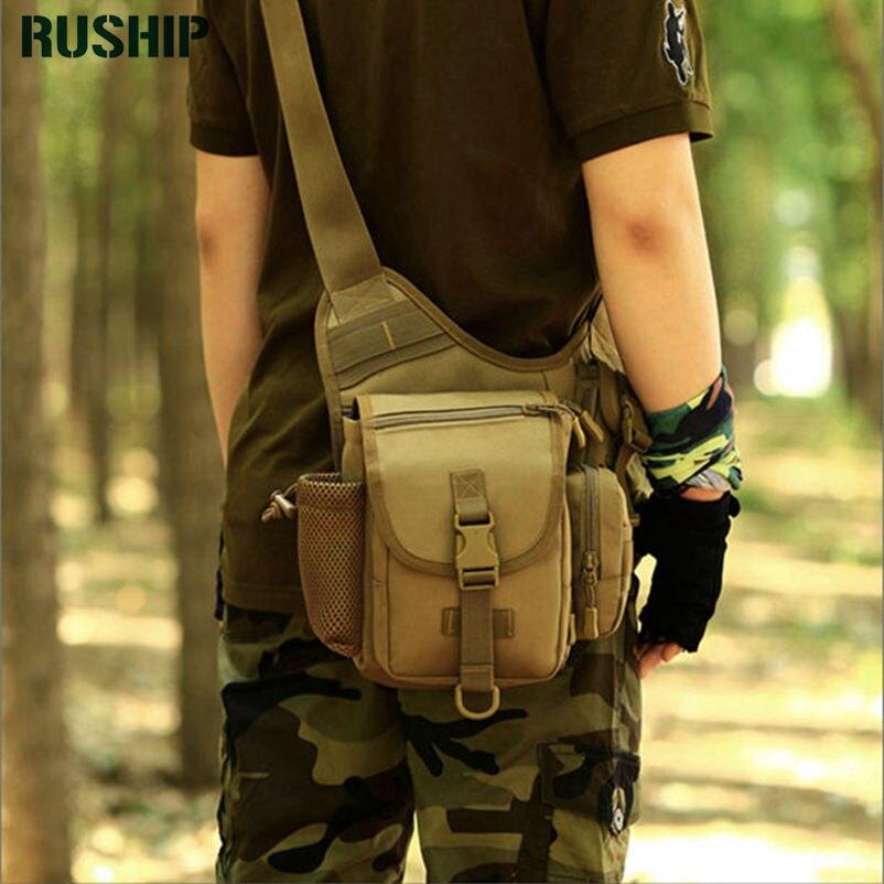 Unisex tácticas impermeable militar camuflaje Trekking bolsas de viaje bolsos de hombro multifuncional Cámara sillín bolsa