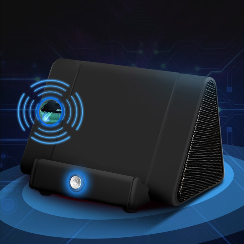 Altavoz Bluetooth portátil USB carga 3D estéreo altavoz inalámbrico con soporte de teléfono HSJ-19