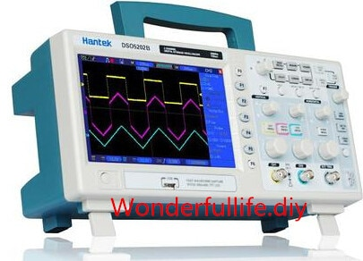 Osciloscopio de Banco Digital de 2 canales de 200 MHz 1 GS/s USB 7 pulgadas LCD de alta resolución 800x480 longitud del registro 1 M DSO5202B