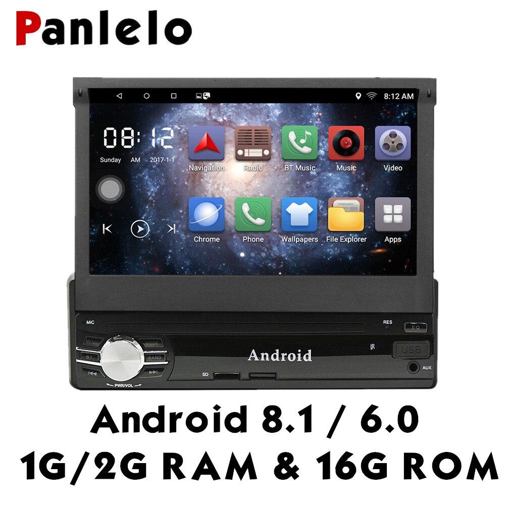 Panlelo 7 pulgadas Android 8,1/6,0 Din estéreo de coche 1G/2G + 16G HD pantalla táctil GPS navegación coche reproductor Multimedia 1din radio