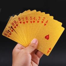 54 pcs Originele Waterdichte Luxe Goud Zilver Folie Plated Poker Premium Matte Plastic Board Games Speelkaarten Gift Collection
