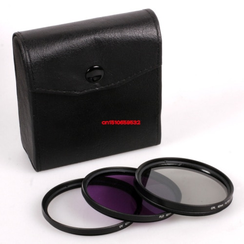 3 in1 62mm Filter kit UV FLD CPL Circulaire + Filter Tas voor Dcanon nikon 3100 D90 D5100 D700 350D 450D