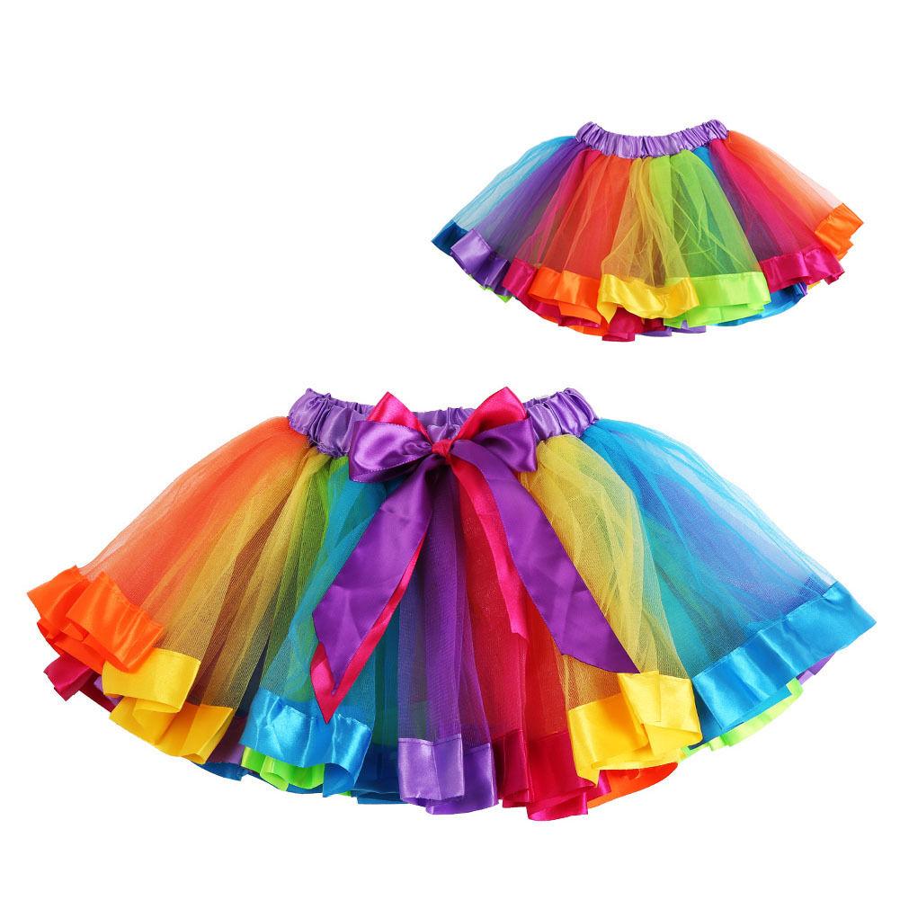 ילדים תינוקת Dancewear טוטו בלט בגדי ריקוד חצאית Pettiskirt עבור 0-8 שנים