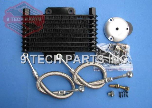 Motorcycle Engine Oil Cooler Radiator SYSTEM for GN125 EN125 EN150 GZ125 GZ150 DR200 QM200 GN/GS/GSX/EN/TU/DR 125 150 200cc