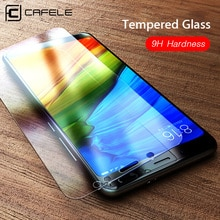 Caja protectora Cafele Protector de pantalla de vidrio templado para Xiaomi 5 5s 6 8 9 A1 A2 mix2 mix3 redmi note 5 7 8 9H dureza HD claro de vidrio