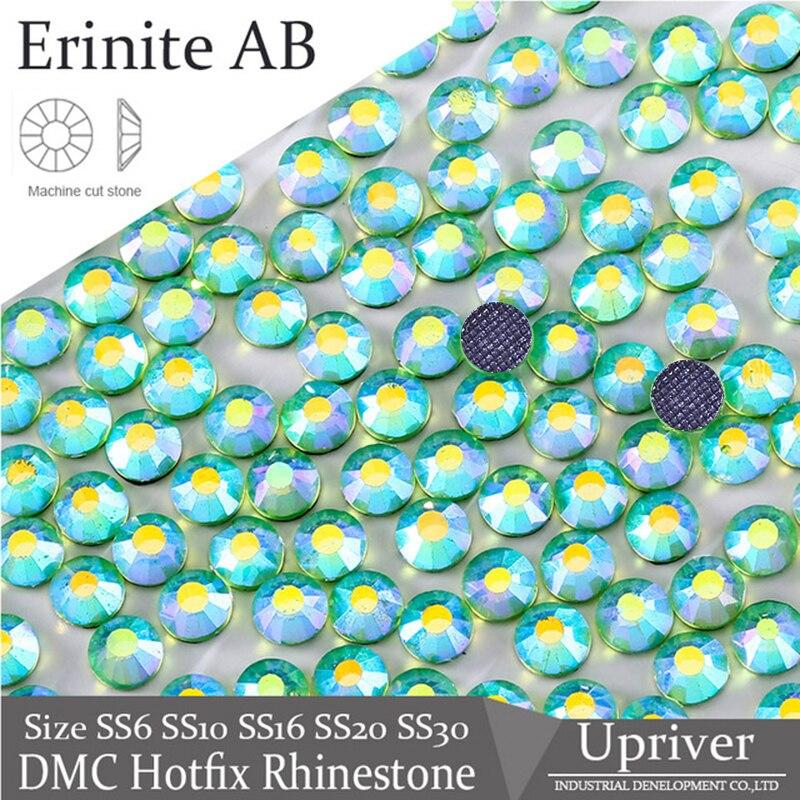 O rio Erinite AB DIY Projeto Acessórios Glitter Solto Pedras DMC Hotfix Strass