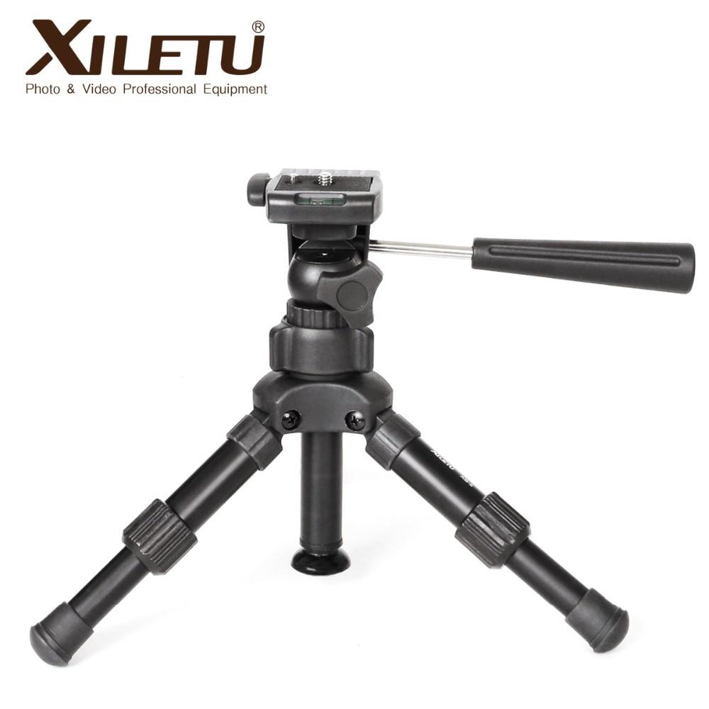 XB-2 panorámico portátil Mini Trípode de sobremesa para cámara Digital con cabezal tridimensional de trípode