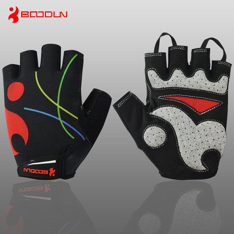 Boodun-Guantes de Ciclismo de medio dedo para hombre y mujer, antideslizantes, transpirables,...
