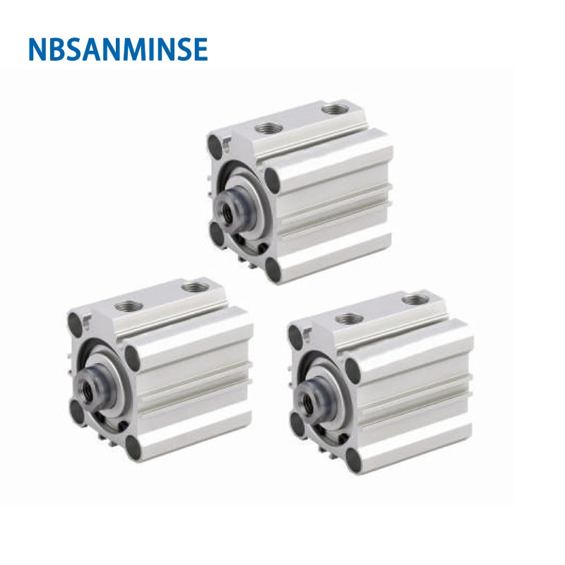 NBSANMINSE CQ2B 12mm Bore Compact Cylinder Double Acting Pneumatic ISO Air Automation Parts