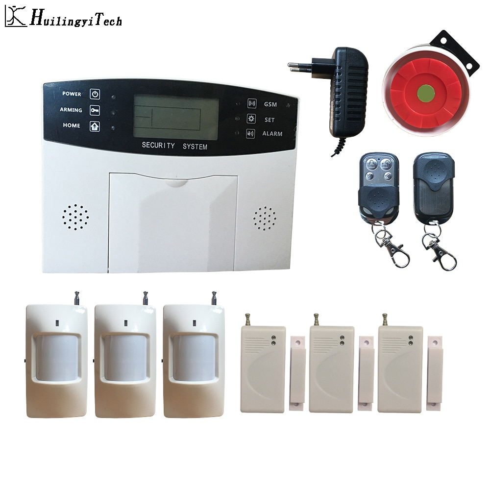 GSM اللاسلكية المنزل الأعمال ضد السرقة الأمن نظام إنذار APP التحكم صفارة RFID الحركة كاشف البير استشعار الدخان