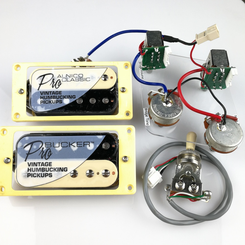 1 Set LP Standard ProBucker Alnico Electric Guitar zebra Humbucker Pickups with Pro Wiring Harness For EPI
