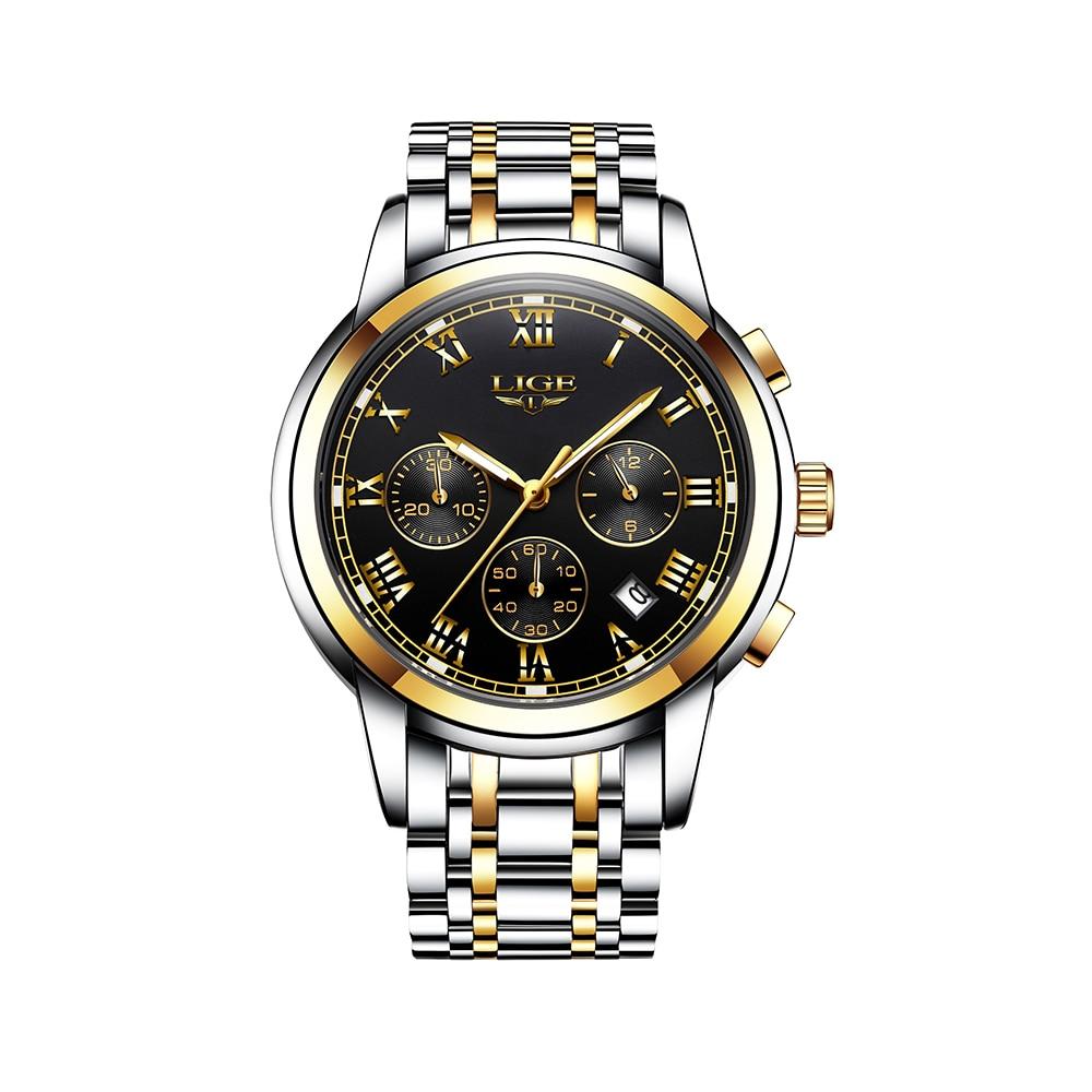 En este momento 9810 hombres reloj de cuarzo negocio Simple reloj calendario fecha Hora Minuto Segundo DisplayTimer 3ATM impermeable Relojes Hombre