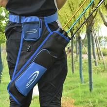 3 Tubes hanche carquois taille pendu flèche sac tir à larc flèche sac de transport avec poches ceinture réglable pour le tir en plein air