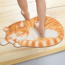 LYN & GY 3D imprimé couchage chat entrée paillassons couloir porte tapis salon chambre anti-dérapant tapis de sol cuisine tapis Tapete