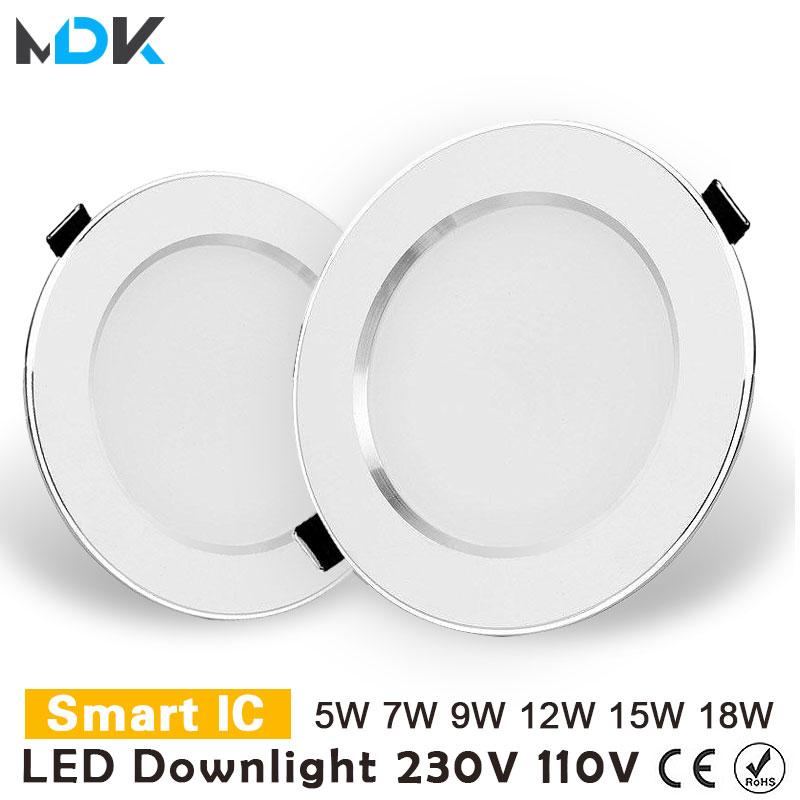 LED Downlight 3W 5W 7W 9W 12W 15W 18W empotrable redondo de...