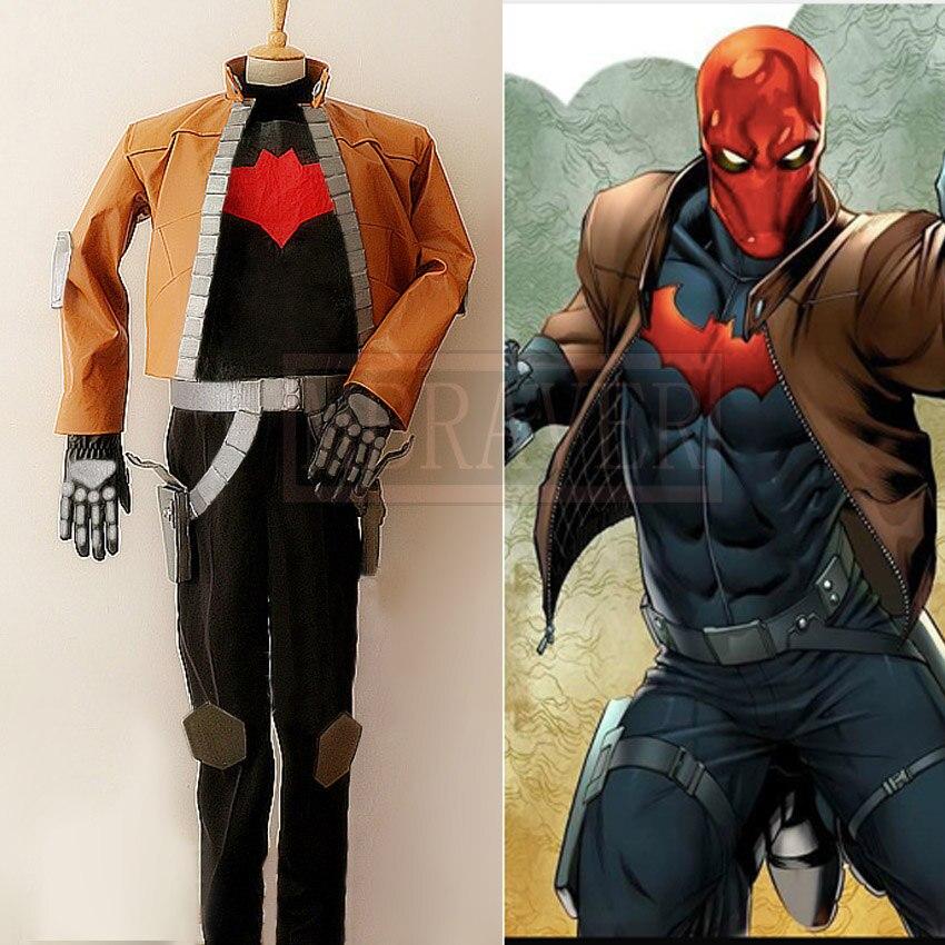 Batman capuz vermelho jason todd cosplay traje conjunto completo personalizar frete grátis