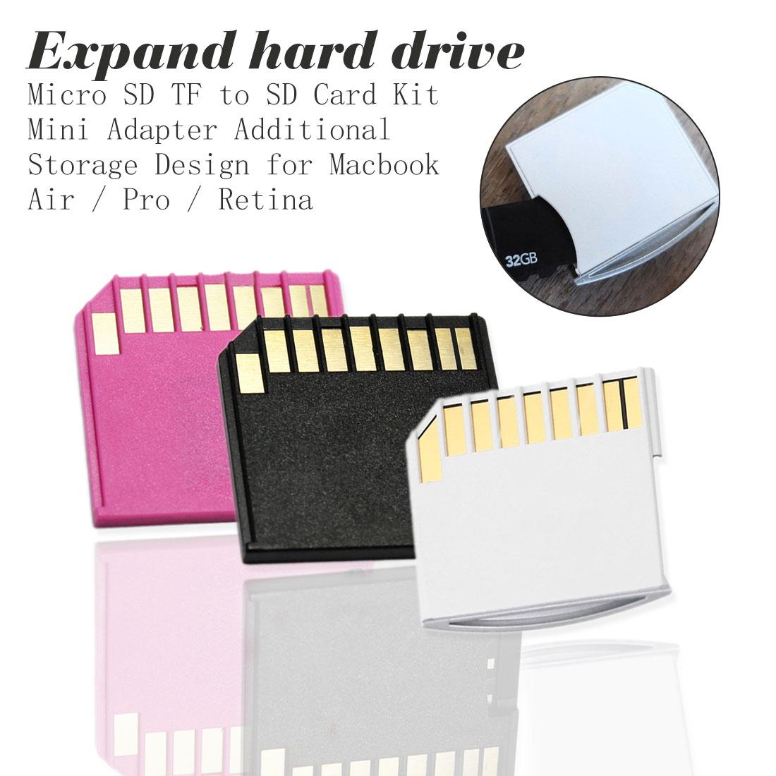 Adaptador de tarjeta Mini conjunto de Tarjeta blanca para MacBook Air Pro TF a MacBook Set de tarjeta de desarrollo de disco duro