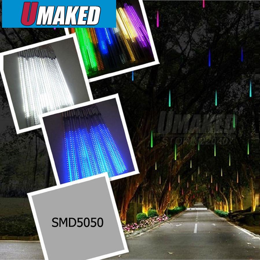 8 tubos/juego 50cm SMD 220V LED nieve caída, luz LED de Navidad, tubo de lluvia impermeable, tubo de meteorito led, luz de vacaciones