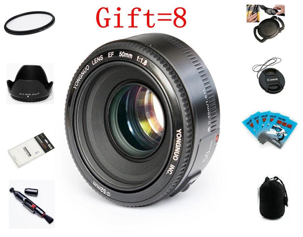 Yongnuo lente yn50mm f1.8 yn ef 50mm f/1.8 af lente yn50 abertura foco automático para canon eos 60d 70d 5d2 5d3 600d câmeras canon dslr
