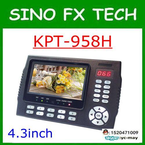 Kangput KPT-958H 4.3 인치 DVB-S/s2 tv 수신기 sat 파인더 휴대용 다기능 hd 위성 파인더 모니터 mpge4 cccam