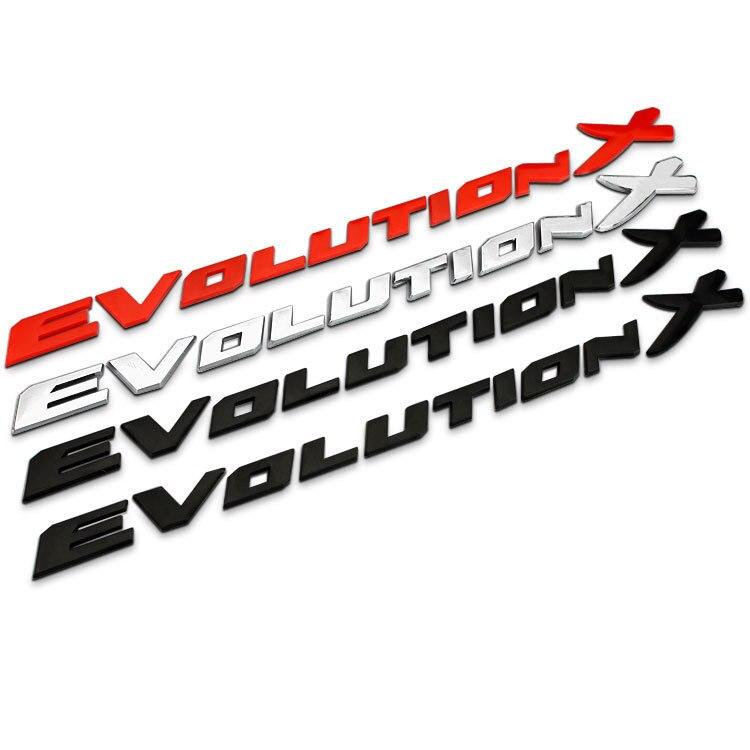 Evolution X Letters ABS пластик автомобильный Стайлинг эмблема значок Автомобильный ремонт багажника 3D Наклейка для Mitsubishi Lancer EVO