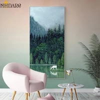 nordic green natural landscape scenery decoration for hallway posters and prints canvas art painting wall pictures home decor