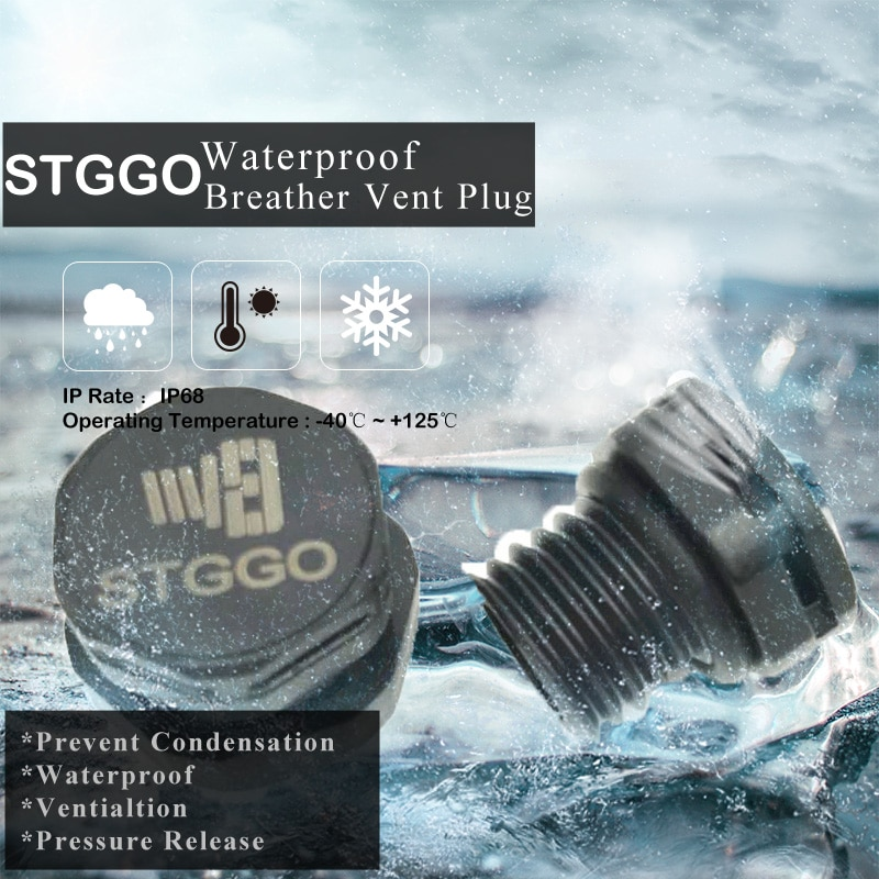 M12*1.5 IP68 protective vents pressure balance valve IP69K waterproof Valve for LED or solar enclosure pressure release