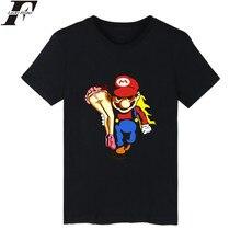 Lucky yfridayf Super MarioRun jeu de dessin animé T-shirt hommes Hip Hop à manches courtes t-shirts et T-shirt hommes de luxe Super Mario t-shirts