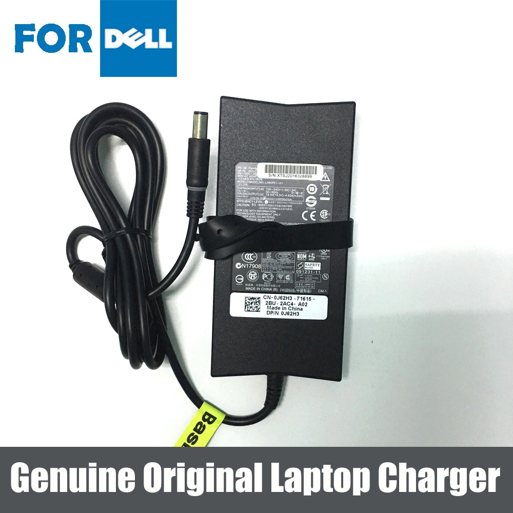Подлинное оригинальное зарядное устройство 90 Вт AC адаптер для Dell 1557 1745 XPS 1640 1510 1700 1710 LA90PE1-01