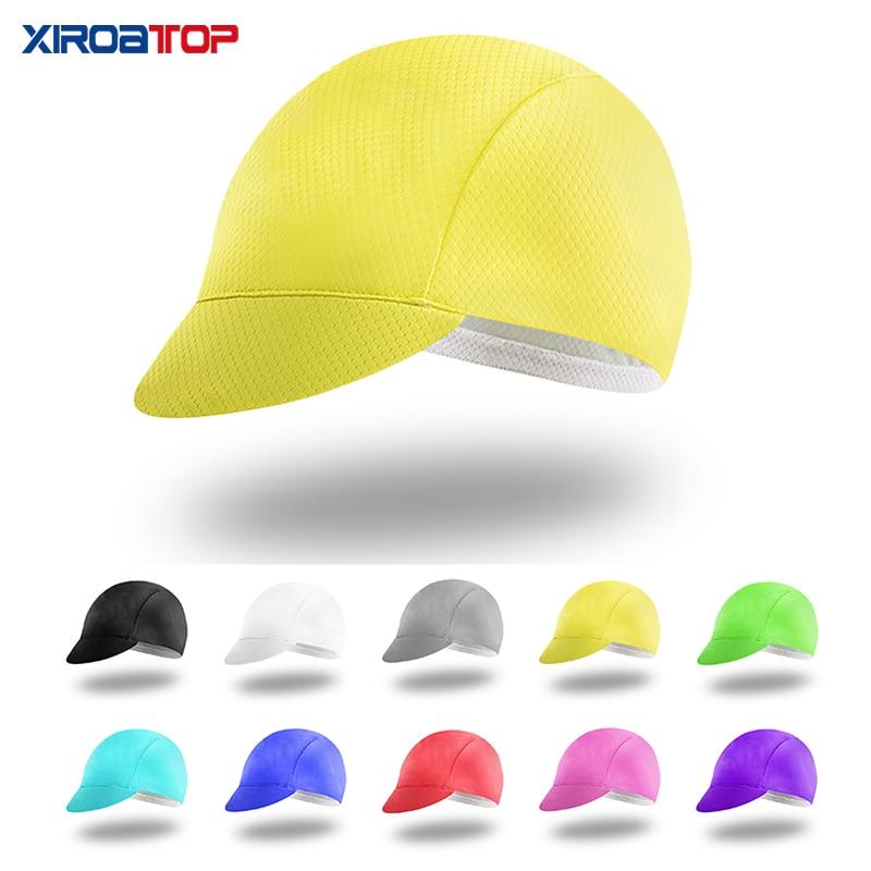 hot sale Solid color Cycling Cap Men Women Head wear Sun UV  MTB cycle cap Bicycle Team Helmet Hood cycling hat gorra ciclismo
