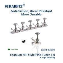 Титановый FineTuner 3,0 STRADPET, износостойкий болт из сплава, аксессуары для скрипки из титана, яркие, зеленые марки