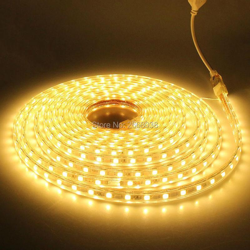 Brilliant Custom Cut 120 Volt SMD-5050 LED Strip Light bright waterproof LED lighting for house building exterior lighting