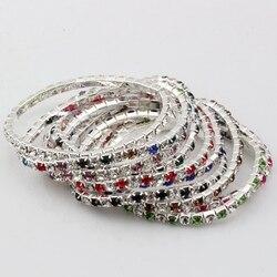 Hot vender! 20 Pcs Colorido da Primavera Row Rhinestone Bracelet a0372