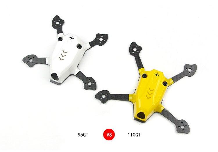 95GT/110GT marco Mini KIT de Drone Quadcopter FPV interior Racer piezas para 1103/1105 Mini Motor sin escobillas