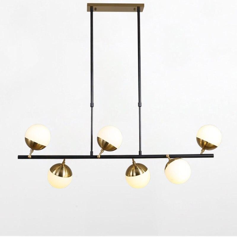 Vidrio nórdico LED creativo colgante de luz estilo europeo lámparas LED de lujo Moderm vidrio iluminación interior restaurante