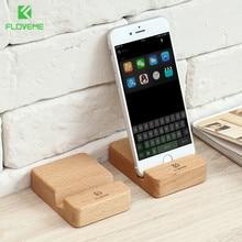 Soporte de madera portátil para teléfono móvil FLOVEME X 8 para iPhone 7 plus soporte Universal para tableta para Samsung Huawei soportes para teléfono móvil