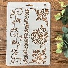 26 cm Floral cadre bord bricolage artisanat stratification pochoirs peinture Scrapbooking estampage gaufrage Album papier carte modèle