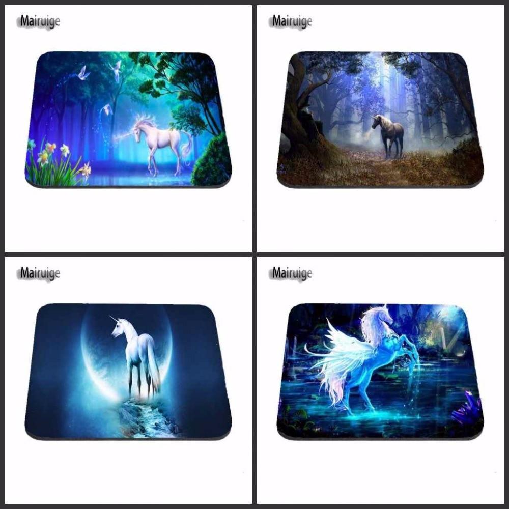 Mairuige, divertida y de alta calidad, unicornios de fantasía antideslizantes, nueva alfombrilla para ratón de moda para ordenador portátil, tableta, PC para decorar tu escritorio