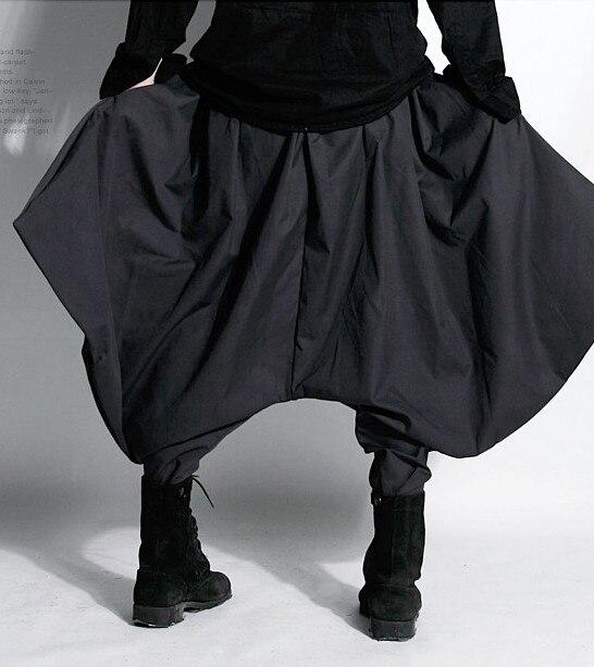 ¡27-44! ¡NOVEDAD DE 2017! ropa de primavera y otoño coreana para hombre, pantalones bombachos grandes de tiro bajo noctule, pantalones de talla grande disponibles para trajes de cantante