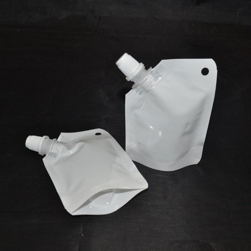 كيس تخزين سائل دوق باك بلاستيكي أبيض 50 مللي ، تعبئة مع صنبور جانبي ، شحن مجاني ، w8281