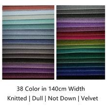 38 renkler katı düz boya mat kazık değil aşağı bükülmüş kadife kumaş kanepe sandalye perdelik döşemelik kumaş 140cm genişlik satış metre