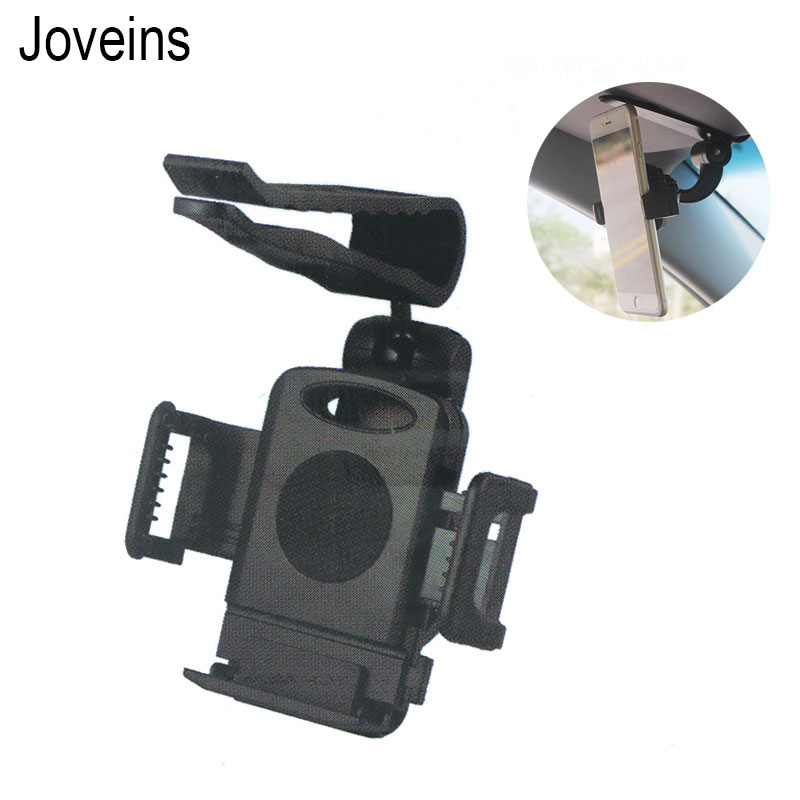 Soporte para teléfono JOVEINS, soporte de montaje de visera para coche, soporte giratorio Universal 360 para iPhone, Samsung, GPS, soporte para teléfono inteligente