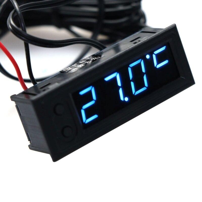 DIY Многофункциональные Высокоточные Часы, автомобильный температурный аккумулятор, монитор напряжения, Вольтметр постоянного тока 12 В